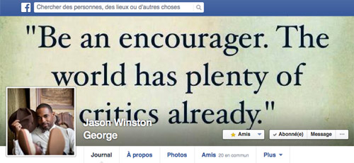 Page Facebook de Jason George
