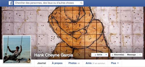 Page Facebook de Hank Cheyne
