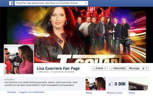 Facebook Fan Page de Lisa Guerrero