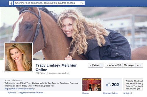 Facebook Fan Page de Tracy Melchior