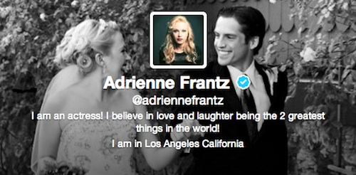 Twitter d'Adrienne Frantz