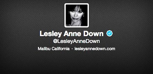 Twitter de Lesley-Anne Down