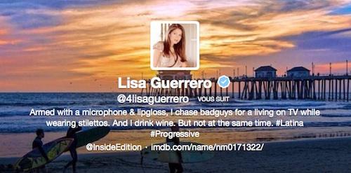 Twitter de Lisa Guerrero