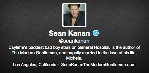 Twitter de Sean Kanan