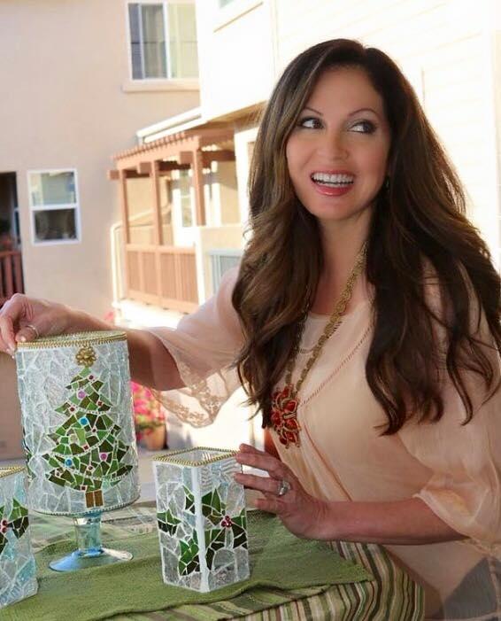 Lisa Guerrero mosaïque bougies